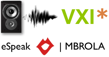 New VXI* Text-to-Speech connector ready for eSpeak / MBROLA